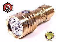 Mecarmy PT16 Titanium / Brass 3x Cree XP-G2 S4 LED Flashlight