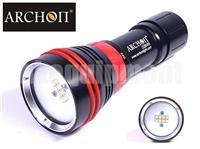 Archon D26VR Cree XP-G2 R5+XP-E N3 Diving Video Red LED Flashlight