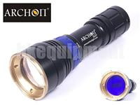 Archon DL01 Cree XP-E D4 Blue LED Diving Underwater Video Flashlight+Ball Arm