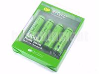 GP Recyko+ AA 1300 Rechargeable LSD NiMH 1.2v Battery x4+CASE
