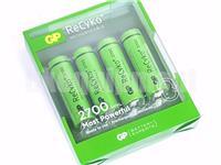 GP Recyko+ AA 2700 Rechargeable LSD NiMH 1.2v Battery x4+CASE
