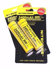 Nitecore 18650 3400 NL1834 3.6v Protected Rechargeable Battery x2