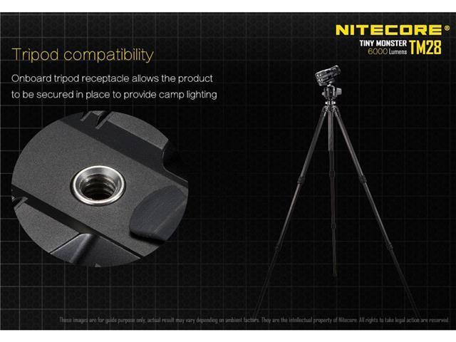 Nitecore Tm28 Quadray 4x Cree Xhp35 Hi 6000lm Flashlight