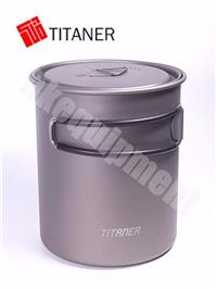 TITANER Titanium Mug Cup Cooking pot 800ml with Folding Handle and Lid