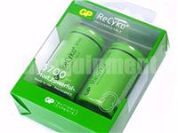 GP Recyko+ D 5700 Rechargeable LSD NiMH 1.2v Battery x2