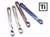 EDC Titanium Ti Ti6AL4V MOLLE Keyring Belt Pocket Clip