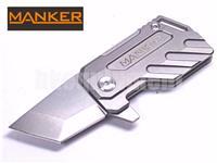Manker ELFIN Stonewash Titanium Liner Lock Folding Knife