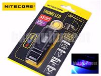 NiteCore THUMB LEO Rechargeable USB Clip Keychain+UV Flashlight Money Checker