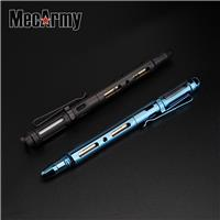 MecArmy TPX25 PVD Titanium TC4 Tungsten Head Fisher Space Ball Pen with Tritium Glow Bar