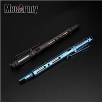 MecArmy TPX25 PVD Titanium TC4 Tungsten Head Fisher Space Ball Pen with Tritium Glow Bar