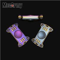 Mecarmy GP1 Ti Titanium Fidget Finger Spinner Ceramic Bearings Gyro DUAL COLOR