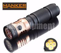 Manker E14 II 2200 Lumens USB Rechargeable Flashlight + High Drain 18650 Battery