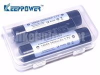 Keeppower 16650 2500mAh 3.7v Protected UR16650ZTA Rechargeable Battery x2 P1665J