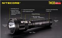 Nitecore TM38 Cree XHP35 HI D4 1800lm 1400m LED Flashlight