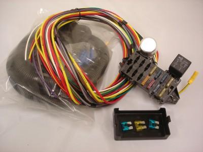 10 circuit basic wire harness rat rod gearhead ebay