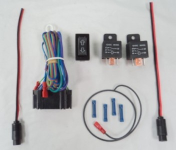 linear actuator wiring kit with rocker switch 2 relays wire free ship sale on ebay