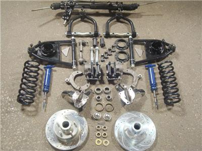 "Mustang 2 Front End Suspension Kit Power 2"" Drop Spindles Ford Rotor 5/8"" Narrow 