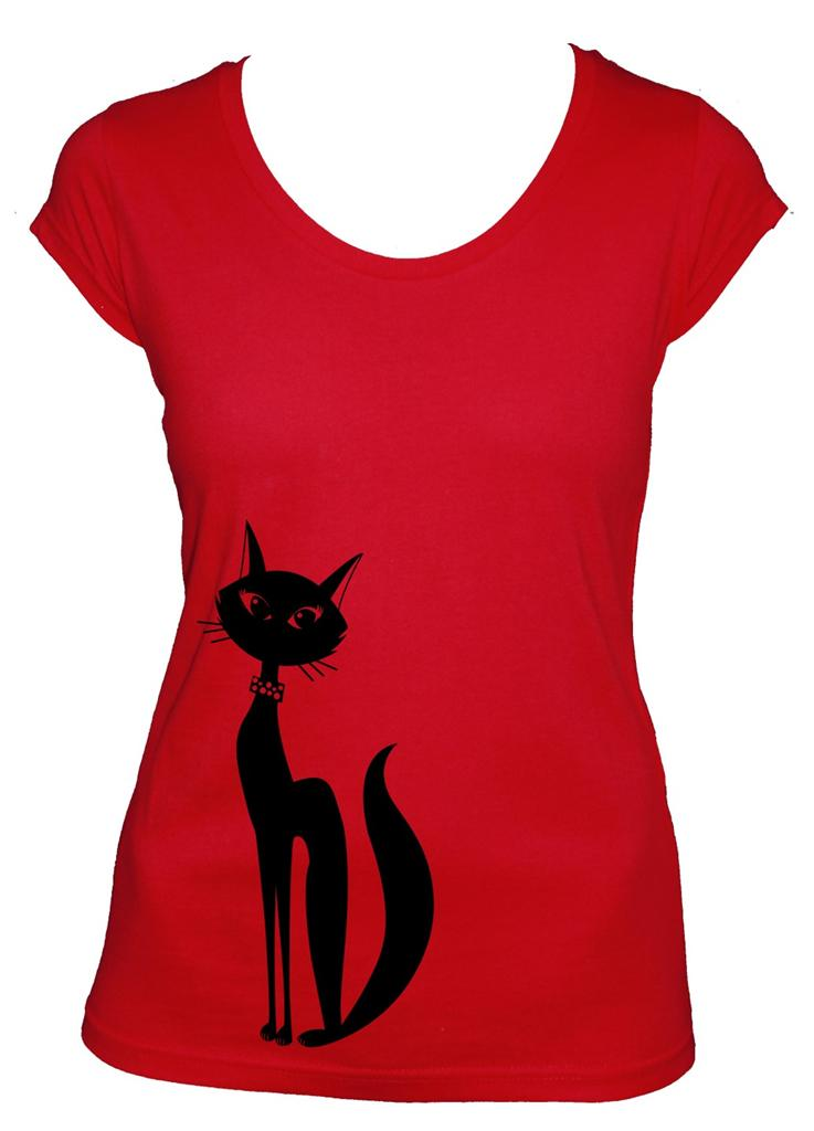 New cat ladies women 39 s t shirt cool groovy rock n roll for Funky t shirts online