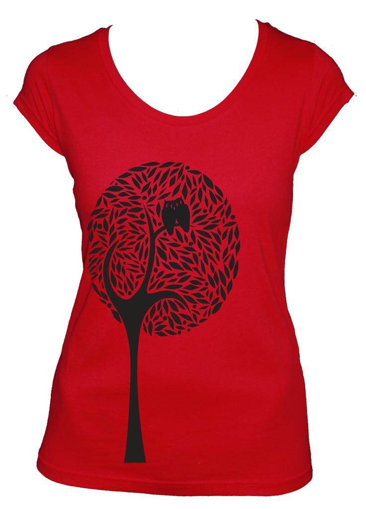 Tree Design Bird Ladies T Shirt Women 39 S Singlet Scoop V