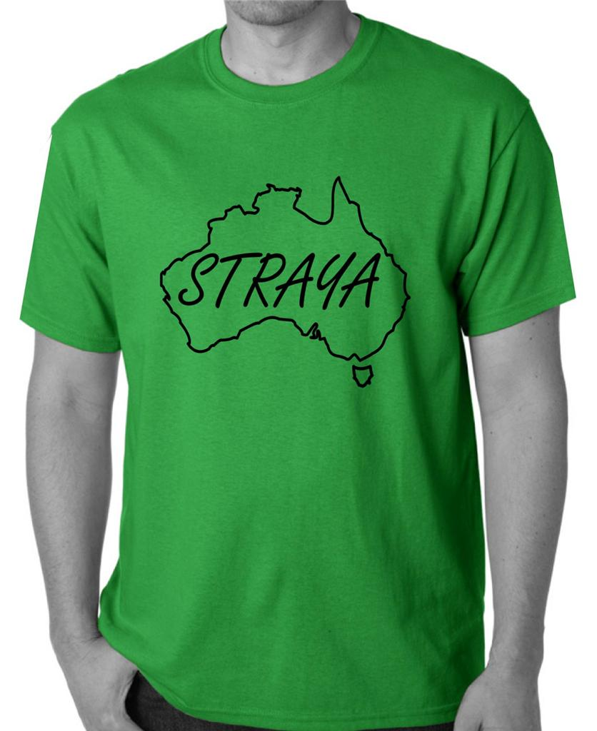 Australia-Day-T-Shirt-Singlet-STRAYA-Mens-Womens-size-Aussie-Australian-top