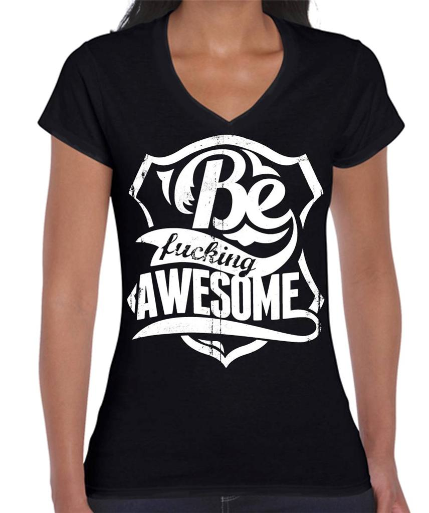 Be-ucking-Awesome-Funny-slogan-Hobo-Womens-T-Shirt-Ladies-Mens-Singlet ...