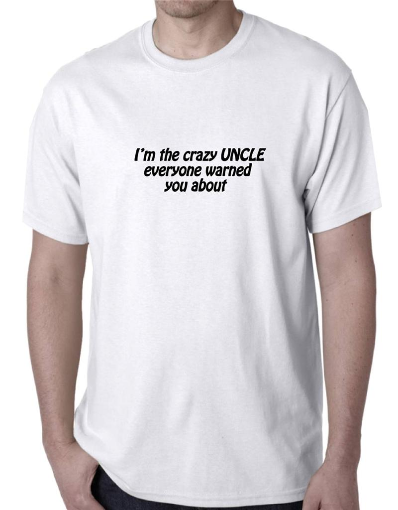 Crazy Uncle Funny T Shirt Singlet Men 39 S Size Birthday