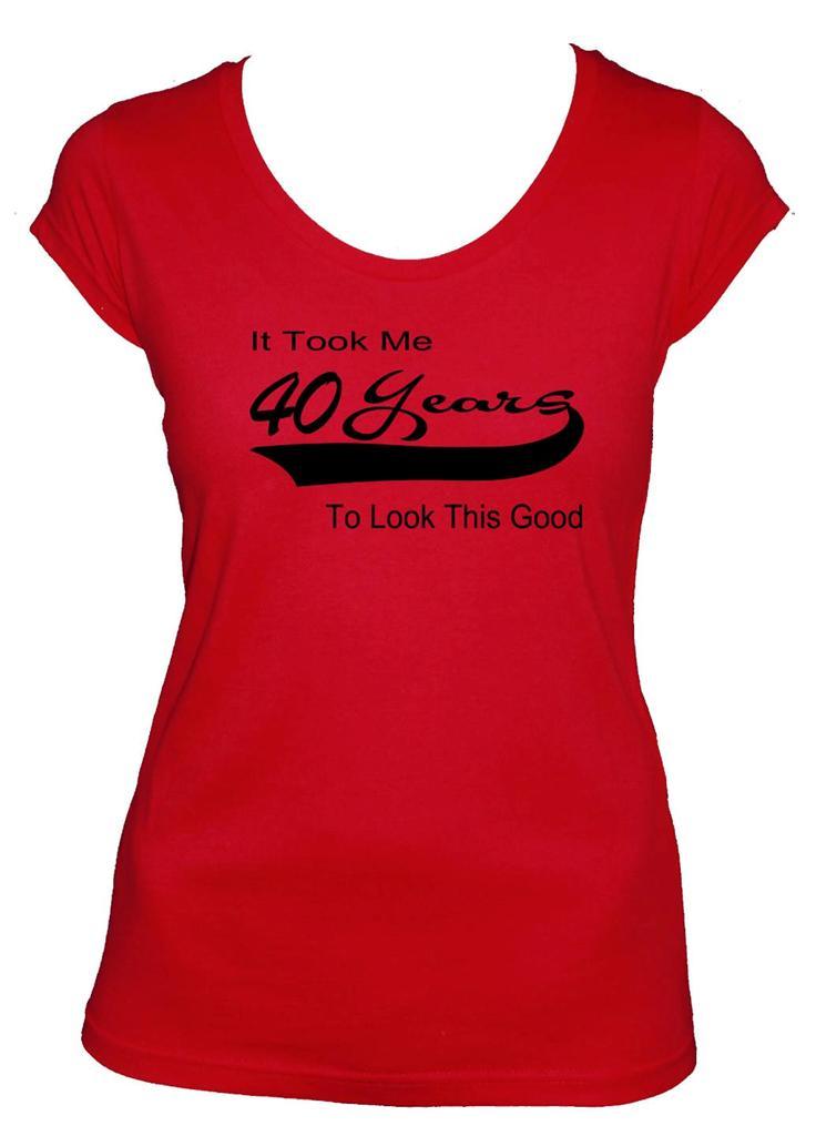 40th Birthday T Shirt Gift Present Tee Menu0026#39;s Ladies Size Singlet Top Tee 1975 | EBay