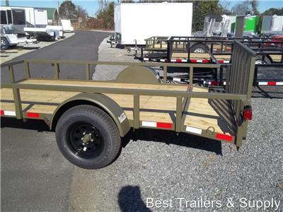 6 x 12 dove tail utility atv wood new side by side trailer for 6x12 wood floor trailer