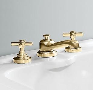 Restoration hardware widespread grafton faucet orb ebay for Restoration hardware bathroom faucets