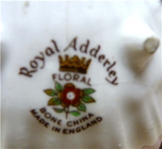 royal adderley floral arrangement bone china england