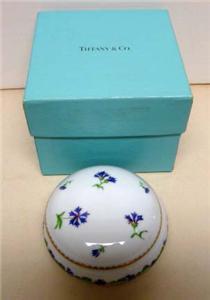 TIFFANY & CO. LIMOGES FRANCE VILLANDRY JEWELRY/TRINKET BOX ORIG.BOX
