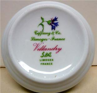TIFFANY & CO. LIMOGES FRANCE VILLANDRY JEWELRY/TRINKET BOX IN ORIG.BOX