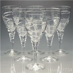 six large cut crystal wine glasses height 7 2 5 9 fl oz. Black Bedroom Furniture Sets. Home Design Ideas