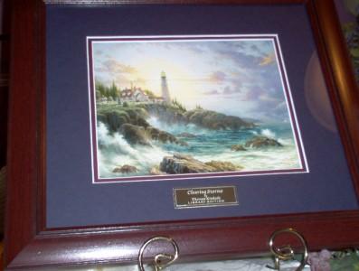 Home interior thomas kinkade clearing storm see picture ebay for Home interiors thomas kinkade prints