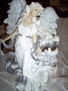 Home Interior Silver Glory Angel Figurine See Pictures Ebay