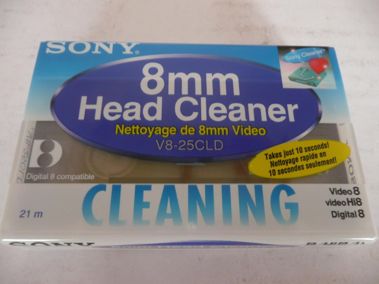 SONY-8MM-VIDEO-HEAD-CLEANER-V8-25CLD-VIDEO-8-TAPE-NEW