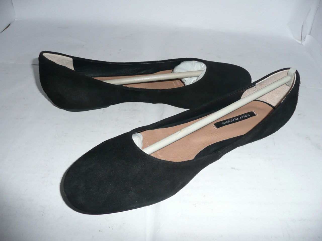 TONY-BIANCO-LADIES-BLACK-SUEDE-LEATHER-FLAT-SHOES