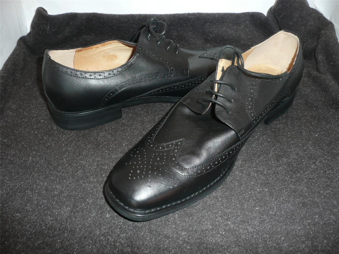 mens black leather via veneto lace up formal dress shoes