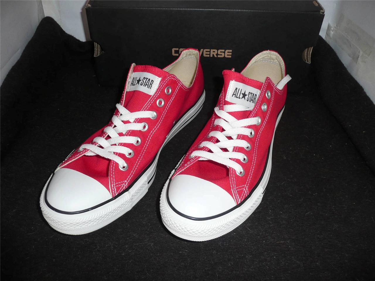 NEW-CONVERSE-UNISEX-ALL-STAR-OX-RED-SNEAKERS-RUNNERS-MENS-11-WOMENS-13