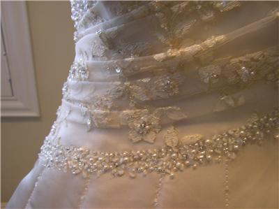 Prom Dress Stores Michigan on Nwot Maggie Sottero  1450 Wedding Dress Bridal Gown Corset Lace Up