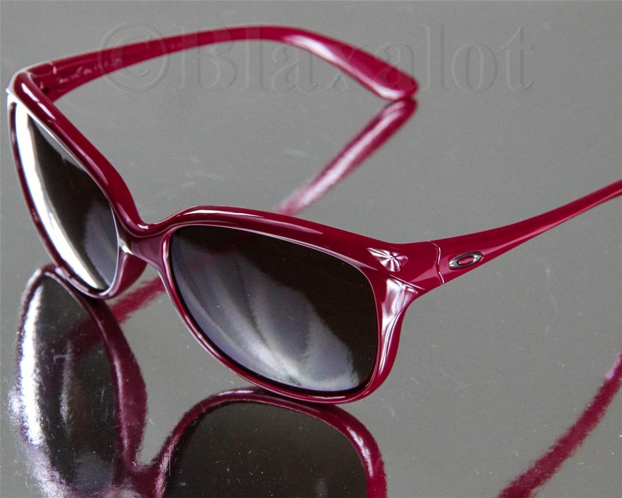 red oakley glasses  NEW OAKLEY PAMPERED SUNGLASSES Vino Red frame/Dark Brown Gradient ...