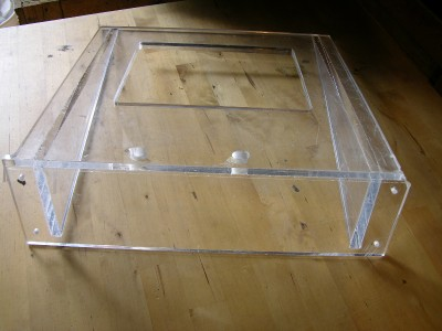 Acrylic Turntable Stand Plexi Glass Wall Mount Record