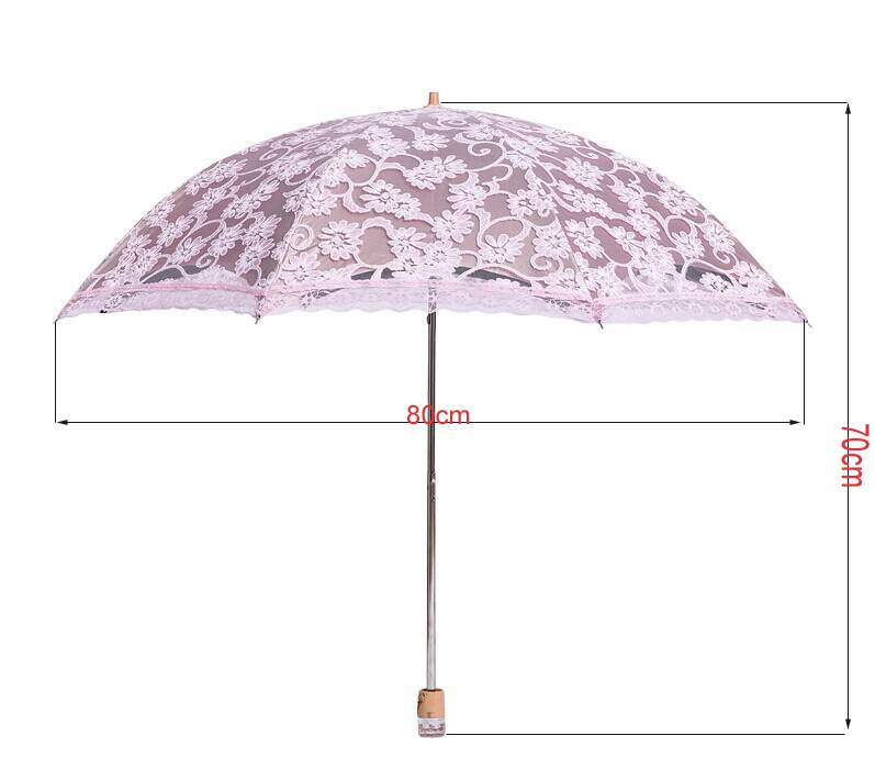 new lace princess parasol sun rain snow anti uv folding wedding bridal umbrella ebay. Black Bedroom Furniture Sets. Home Design Ideas