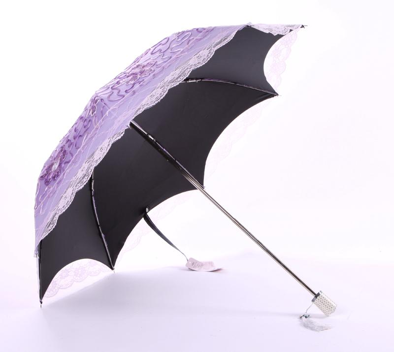 lace embroidered eleganted parasol sun rain snow anti uv 2 folding umbrella 5211 ebay. Black Bedroom Furniture Sets. Home Design Ideas