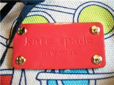 Kate Spade Canvass Shoulder Satchel Bag Tote Clutch Hobo Zip Purse