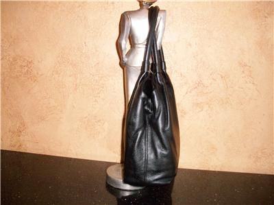 Kate Spade Black Leather Zip Flap Bag Tote Satchell Shoulder Bag Purse
