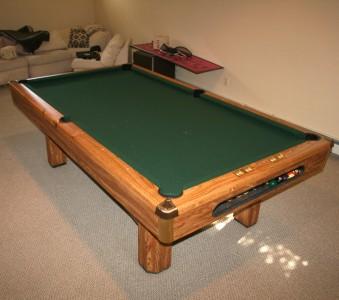 Brunswick 8 39 pool table 3 piece slate ping pong for 1 piece slate pool table