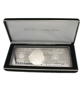 1996 100 Silver Proof 4 Troy Oz One Quarter Pound