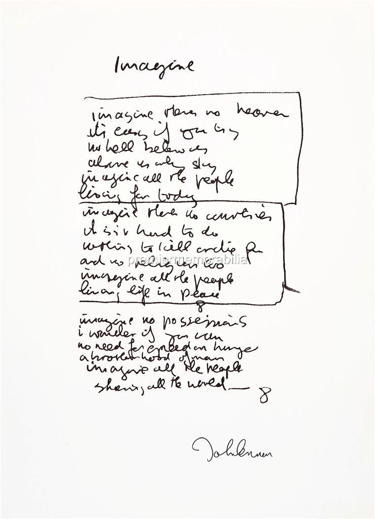 THE-BEATLES-JOHN-LENNON-IMAGINE-LYRICS-SIGNED-PRINTED-A4-PRINT