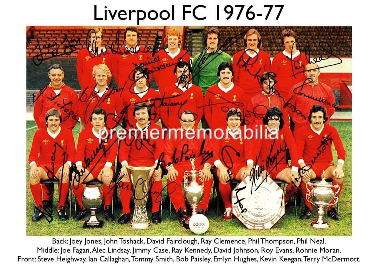 Liverpool fc 1980 Liverpool fc 1976-77 Bob